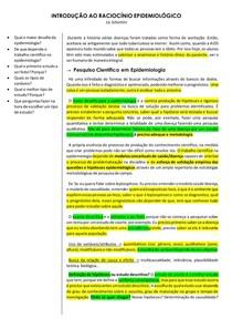 Introdução a Epidemiologia