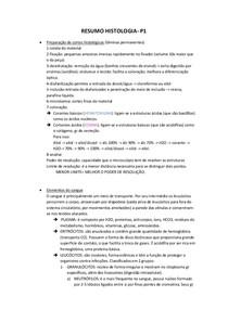 RESUMO HISTOLOGIA p1
