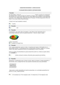 2ª AVALIAÇÃO PARCIAL ONLINE DE CARTOGRAFIA BÁSICA