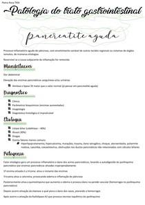 Patologia do trato gastrointestinal - pancreatite aguda