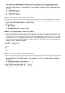 Introdução ao Cálculo - Avaliação II - Individual Semipresencial