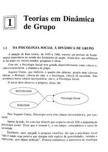 LIVRO: Dinâmicas de Grupo - Minicucci - cap 1