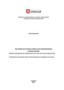 relatorio estagio primeiros socorros