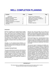-well-completion-planning