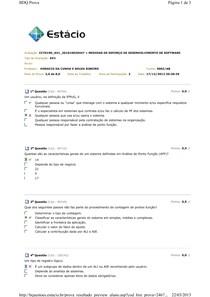 AV1 - Medidas de Esforço de Desenvolvimento de Software