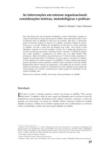 Cadernos de psicologia social do trabalho 8