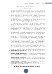 Farmacologia - Aula 09 - Antipsicoticos