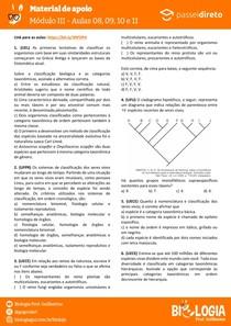 Módulo 3 - aula 08 09 10 11 - Taxonomia