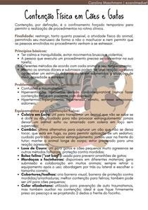 Contenção Física em Cães e Gatos   Práticas Veterinárias II