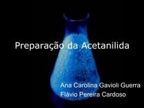 8-Preparação da Acetanilida BAC 2007 G19