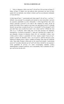 TECNICA E DIETETICA II
