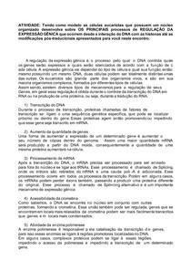 REGULAÇÃO DA EXPRESSÃO GÊNICA