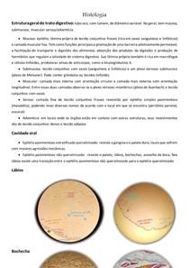 Histologia Gastrointestinal + Fotos de Lâminas