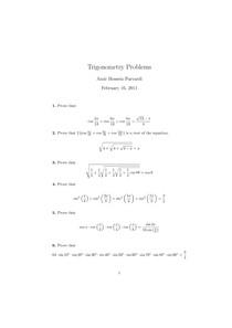 Trigonometry Problems Aops Trigonometria