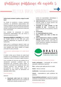 Resumo políticas públicas de saúde - BRASIL SORRIDENTE - Brasil sorridente.