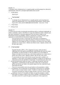 Apol 1 Teoria geral da administração e administração da produção de materiais