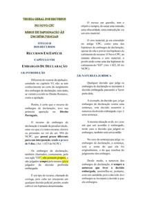 Resumo - EMBARGOS DE DECLRAÇÃO - Jorge Henrique