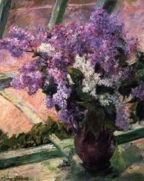 Mary Cassat - Lilacs-in-a-Window