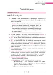 Caderno Direito Das Obrigações @catharinaorganiza