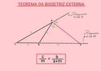 Teorema da bissetriz externa