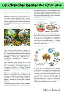 Características Básicas dos Seres Vivos | Biologia