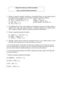 Relação de Exercicios 3 - Conversão de Bases - Mario A Monteiro