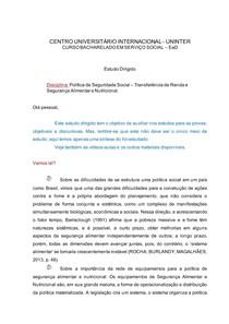 ESTUDO DIRIGIDO_ Transferencia de renda e seguranca alimentar e nutrcional
