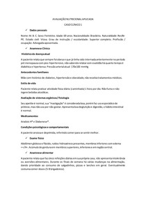 AVALIAÇÃO NUTRICIONAL APLICADA - caso clinico 1