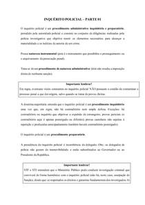 Inquérito Policial - Resumo parte 01
