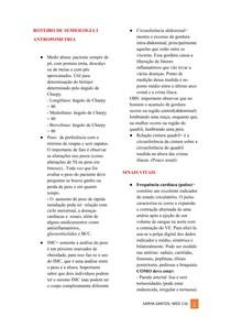 Antopometia, sinais vitais, exame fisico (cadiaco e espiatóio)