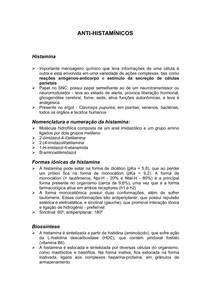 Química Medicinal Anti-histaminicos