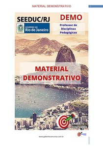 Professor de Disciplinas Pedagógicas - Material Demosntrativo- Concurso SEEDUC/RJ