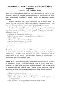 Lista UA 8_Movimento Retilíneo conceitos básicos de posição e deslocamento