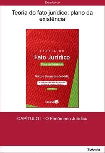 Teoria do Fato Jurídico   Plano da Existência   Marcos Bernardes de Mello   CAP 1