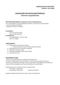 Farmacologia - Carbamato e Organofosforado