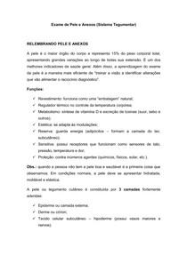 3   Exame de Pele e Anexos (Sistema Tegumentar)