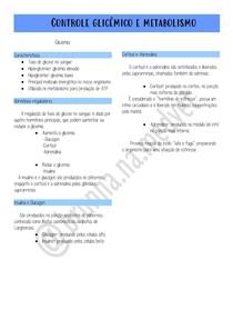 controle glicêmico e metabolismo