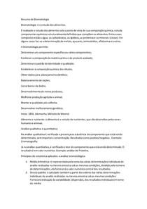 Resumo de Bromatologia