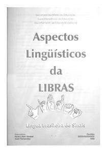 Aspectos Linguisticos da Libras   Secretaria da Educação