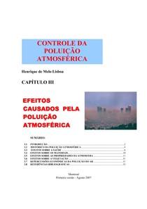 Controle da Poluição Atmosférica Cap 3 Efeitos causados pela poluicao atmosferica