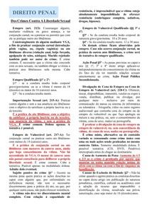 DOS CRIMES CONTRA A LIBERDADE SEXUAL - DIREITO PENAL