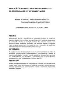 APLICAÇÃO DE ALGEBRA LINEAR NA ENGENHARIA CIVIL1