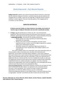 RESUMO - Direito Empresarial I - Prof Marcelo Piazzetta - 1º BI