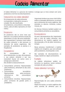 Cadeias Alimentares - Biologia