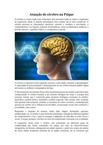 Atuação do cérebro na Psique
