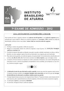 Exame IBA 2012