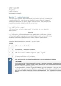 APOL DE 1 A 5 DISCIPLINAS Análise Econômica E Administração Estratégica