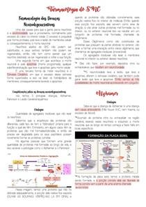 Farmacologia SNC- Alzheimer (Etiologia, receptores, farmacos, alterações bioquimicas)