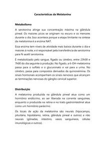 Características da Melatonina