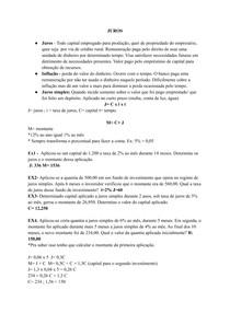 Juros simples e composto (resumo e exercicios)